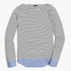J. Crew Mercantile striped long sleeve top